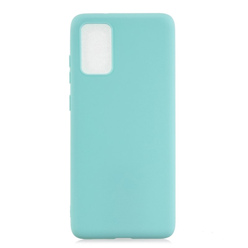 For Samsung A01/ A11/A21/A41/A51/A71/A81/A91 Mobile Phone Case Lovely Candy Color Matte TPU Anti-scratch Non-slip Protective Cover Back Case 8 light blue