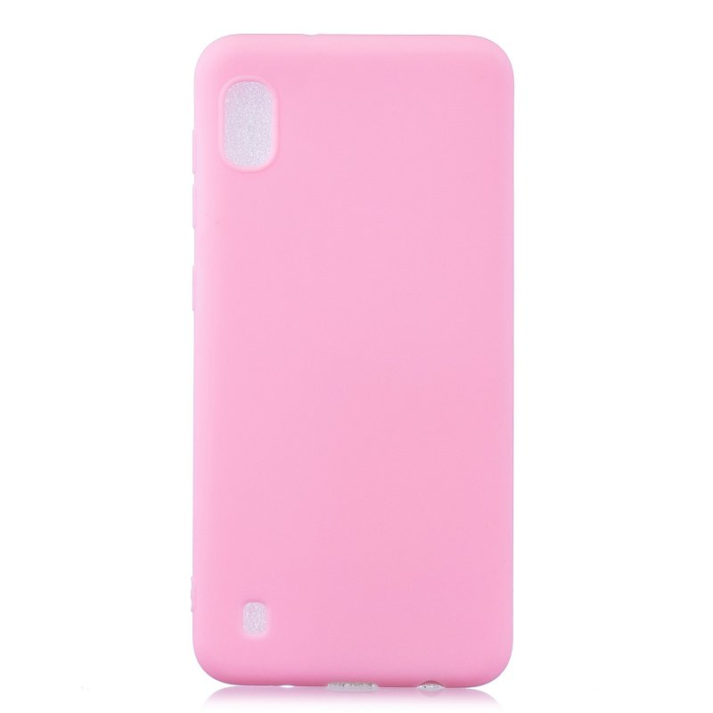 For Samsung A01/ A11/A21/A41/A51/A71/A81/A91 Mobile Phone Case Lovely Candy Color Matte TPU Anti-scratch Non-slip Protective Cover Back Case 5 dark pink