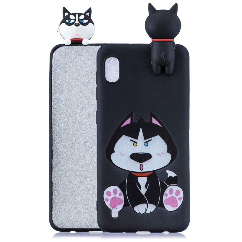 For Samsung A01 Soft TPU Case Back Cover 3D Cartoon Painting Mobile Phone Shell Cute husky