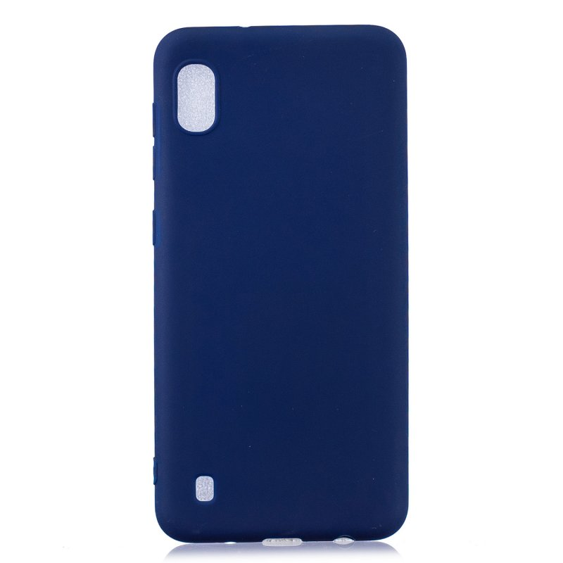 For Samsung A10 Lovely Candy Color Matte TPU Anti-scratch Non-slip Protective Cover Back Case Navy