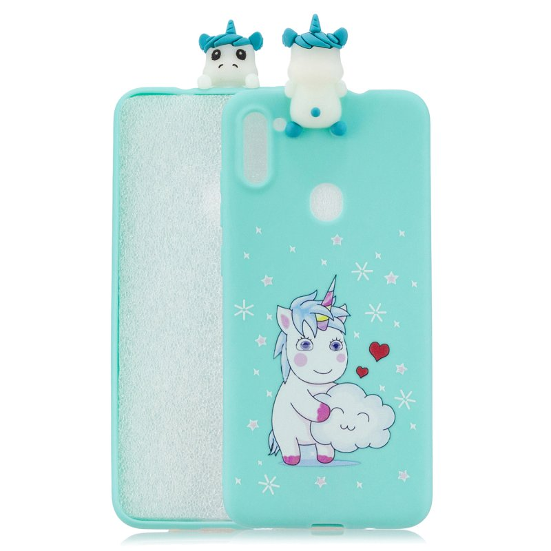 For Samsung A11 TPU Back Cover 3D Cartoon Painting Soft Mobile Phone Case Shell cartoon horse