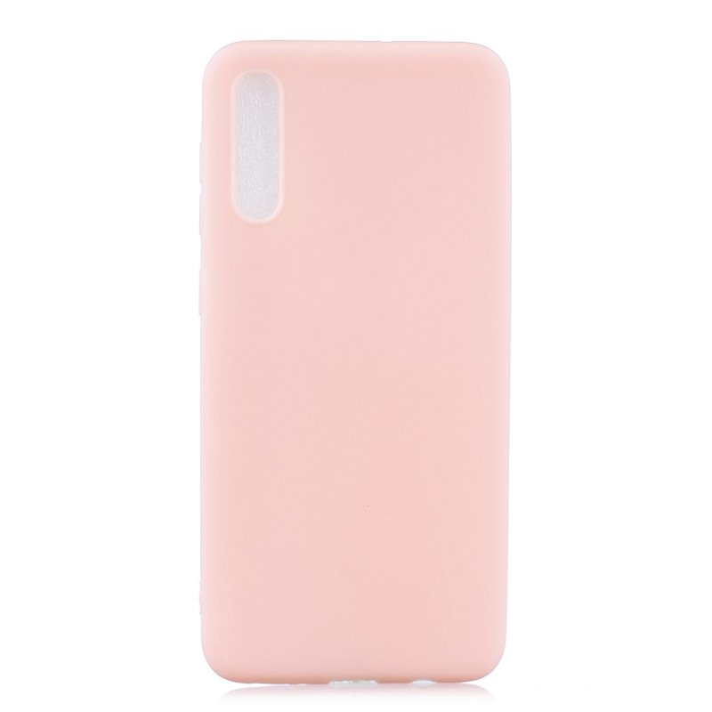 For Samsung A50 Lovely Candy Color Matte TPU Anti-scratch Non-slip Protective Cover Back Case Light pink