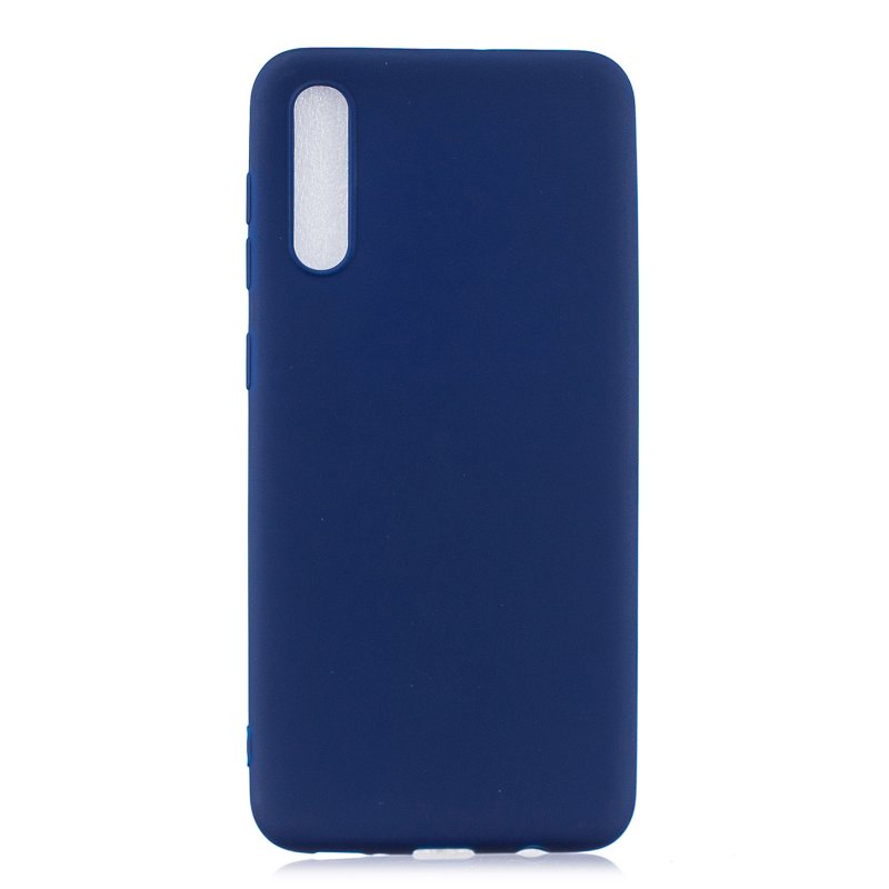 For Samsung A50 Lovely Candy Color Matte TPU Anti-scratch Non-slip Protective Cover Back Case Navy