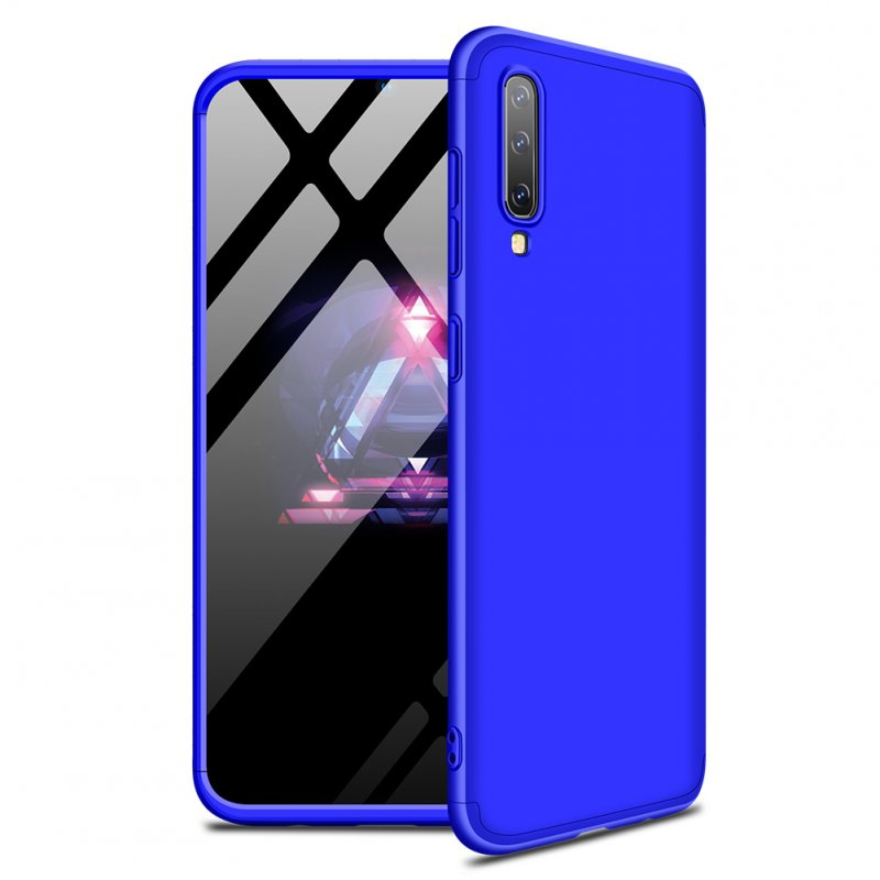 For Samsung A50 Ultra Slim PC Back Cover Non-slip Shockproof 360 Degree Full Protective Case blue
