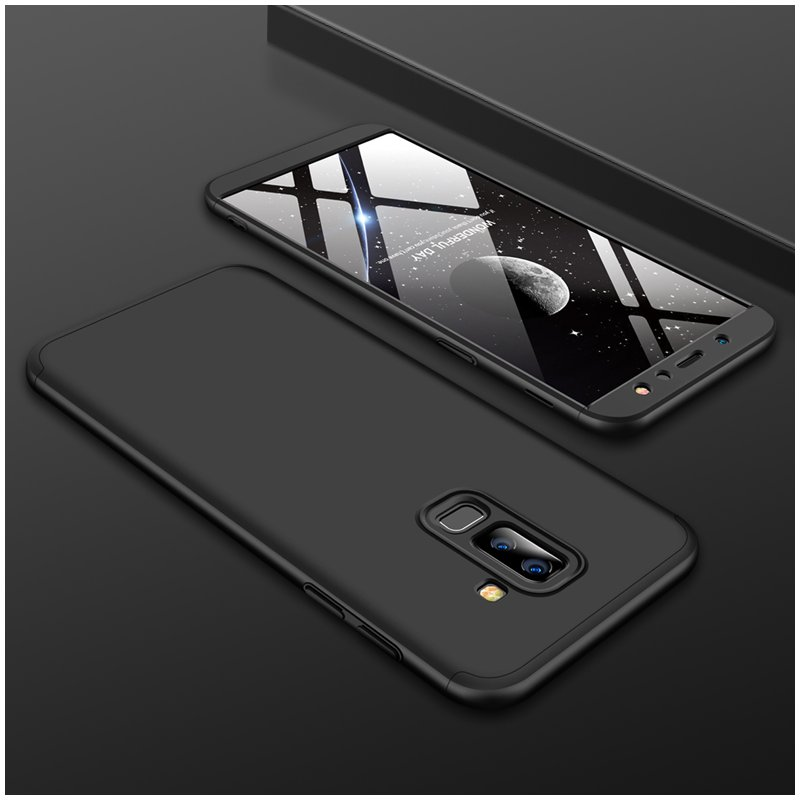 For Samsung A6 Plus 2018 Ultra Slim 360 Degree Non-slip Shockproof Full Protective Case black
