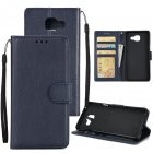 For Samsung A7 2017/A720 PU Leather Cell Phone Case Protective Cover Shell with Buckle blue