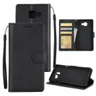 For Samsung A7 2017/A720 PU Leather Cell Phone Case Protective Cover Shell with Buckle black