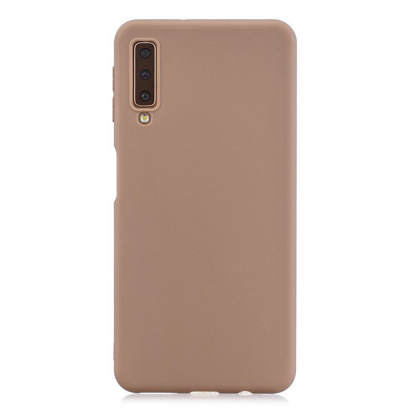 For Samsung A7 2018 Lovely Candy Color Matte TPU Anti-scratch Non-slip Protective Cover Back Case 9