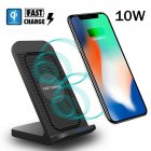 For Samsung Galaxy S10 Plus/e Fan Qi Wireless Charger Dock Fast Charging Stand black
