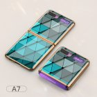 For Samsung Galaxy Z flip Foldable Cellphone Shell Electroplated Painted Folding Phone Case A7