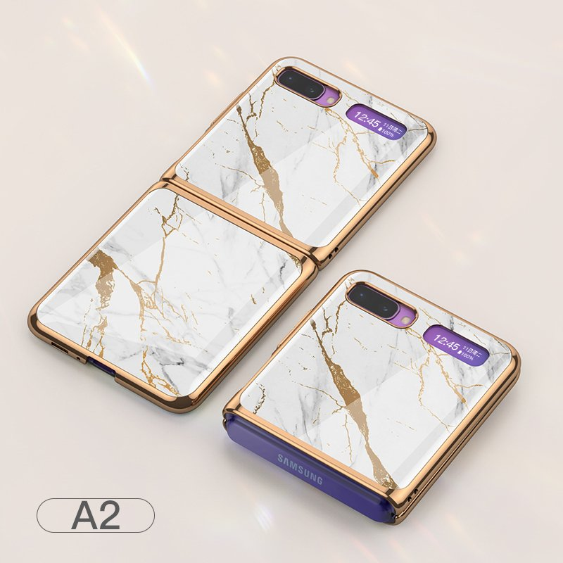 For Samsung Galaxy Z flip Foldable Cellphone Shell Electroplated Painted Folding Phone Case A2