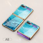 For Samsung Galaxy Z flip Foldable Cellphone Shell Electroplated Painted Folding Phone Case A8