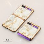 For Samsung Galaxy Z flip Foldable Cellphone Shell Electroplated Painted Folding Phone Case A4
