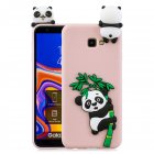 For Samsung J4 2018/J4 Plus Phone Case 3D Cartoon Panda Bamboo Cellphone Back Shell Shockproof Smartphone Cover Pink