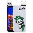 For Samsung J4 2018 J4 Plus Phone Case 3D Cartoon Panda Bamboo Cellphone Back Shell Shockproof Smartphone Cover White