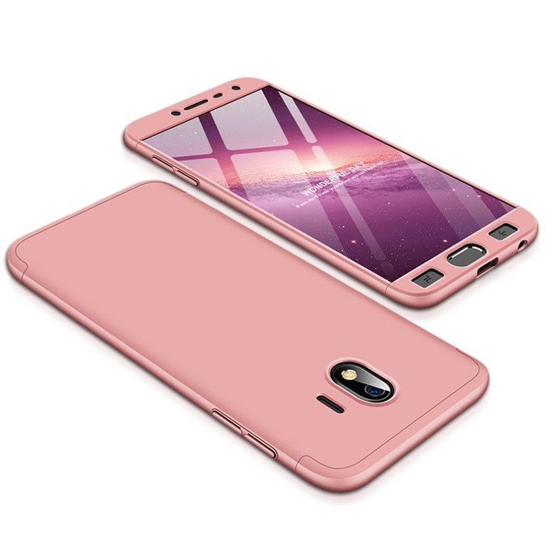 For Samsung J4 2018 Ultra Slim 360 Degree Non-slip Shockproof Full Protective Case Rose gold