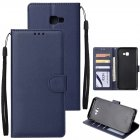 For Samsung J4 plus Flip-type Leather Protective Phone Case with 3 Card Position Buckle Design Phone Cover  blue