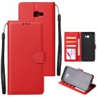 For Samsung J4 plus Flip-type Leather Protective Phone Case with 3 Card Position Buckle Design Phone Cover  red