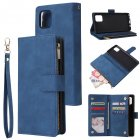 For Samsung NOTE 10 Lite Case Smartphone Shell Wallet Design Zipper Closure Overall Protection Cellphone Cover  2 blue