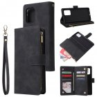 For Samsung S10 Lite 2020 Mobile Phone Case Wallet Design Zipper Closure Overall Protection Cellphone Cover  1 black