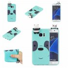 For Samsung S7 edge 3D Cartoon Lovely Coloured Painted Soft TPU Back Cover Non-slip Shockproof Full Protective Case Light blue
