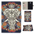 For Samsung T590 Laptop Protective Case Color Painted Smart Stay PU Cover with Front Snap Fun elephant