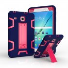 For Samsung TAB E 8 /T377 PC+ Silicone Hit Color Armor Case Tri-proof Shockproof Dustproof Anti-fall Protective Cover