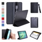 For Samsung tab S3 9 7 inch T820 T825 PU Leather Protective Case with Pen Bandage Sleep Function black