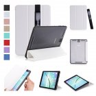 For Samsung tab S3 9 7 inch T820 T825 PU Leather Protective Case with Pen Bandage Sleep Function white