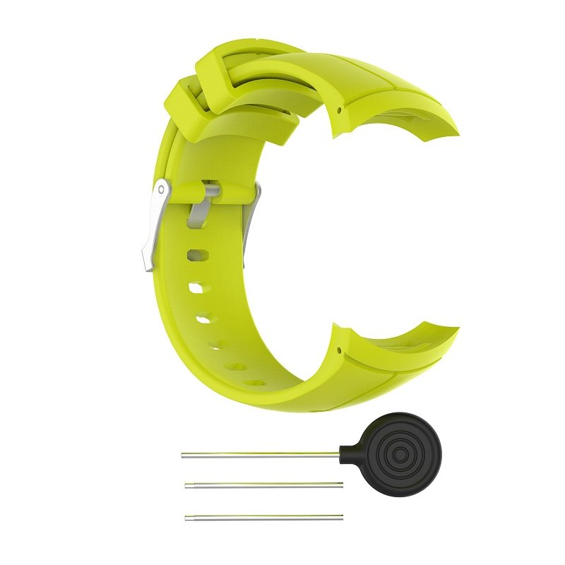 For Spartan Sport Silicone Replacement Wrist Band Strap For Suunto Spartan Ultra Sport Smart Watch Band green