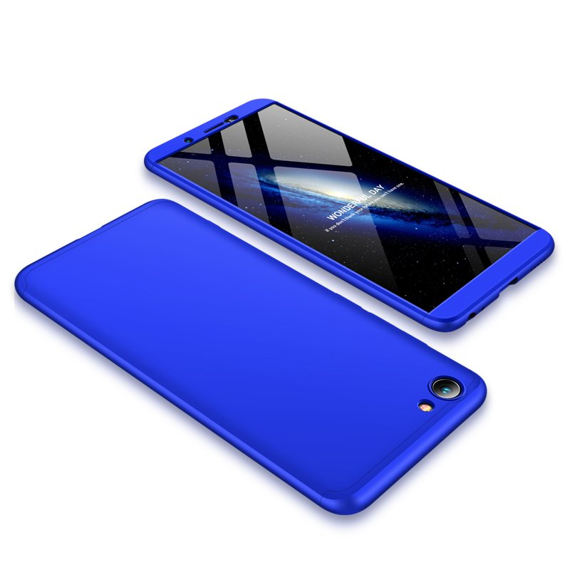 For VIVO Y71 Slim 3 in 1 Hybrid Hard Case Full Body 360 Degree Protection Back Cover blue