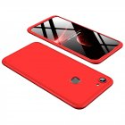 For VIVO Y83 Fingerprint Slim 3 in 1 Hybrid Hard Case Full Body 360 Degree Protection Back Cover red