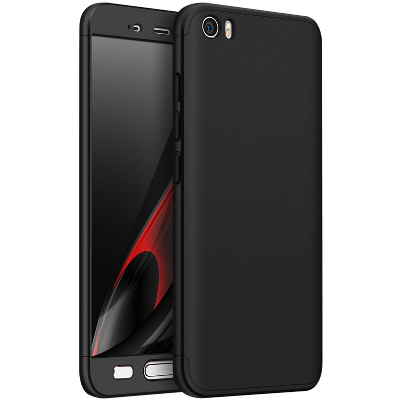 For XIAOMI MI 5 Slim 3 in 1 Hybrid Hard Case Full Body 360 Degree Protection Back Cover  black