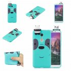 For XIAOMI Redmi 5 plus 3D Cartoon Lovely Coloured Painted Soft TPU Back Cover Non-slip Shockproof Full Protective Case Light blue