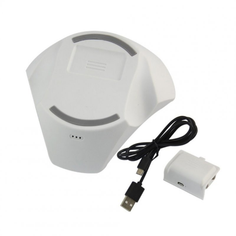 For Xbox One S Wireless Gamepad Game Handle Wireless Charging Base Holder white