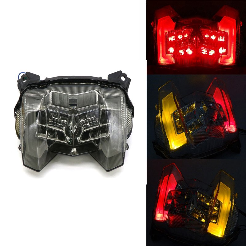 For Yamaha MT-09 FZ-09 18-19 Rear Tail Light Brake Turn Signals Integrated LED Light Transparent black shell
