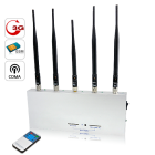 For absolute jamming of any cell phone signal  there is no stronger or more efficient solution than the 5 Antenna Cell Phone Jammer with Remote Control