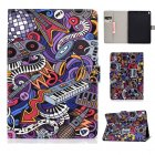 For iPad 10.5 2017/iPad 10.2 2019 Laptop Protective Case Color Painted Smart Stay PU Cover with Front Snap  Graffiti