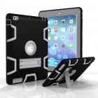 For iPad 2 3 4 PC  Silicone Hit Color Armor Case Tri proof Shockproof Dustproof Anti fall Protective Cover  Black   gray