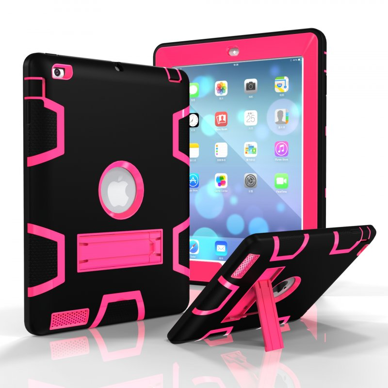 For iPad 2/3/4 PC+ Silicone Cover