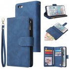 For iPhone 6   6S iPhone 6 plus   6S plus iPhone 7   8 iPhone 7 plus   8 plus Smart Phone Cover Coin Pocket with Cards Bracket Zipper Phone PU Leather Case Phon