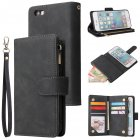 For iPhone 6 / 6S iPhone 6 plus / 6S plus iPhone 7 / 8 iPhone 7 plus / 8 plus Smart Phone Cover Coin Pocket with Cards Bracket Zipper Phone PU Leather Case Phone Cover  iPhone 6 / 6S