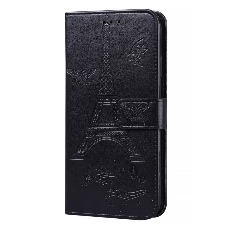 For iPhone12 iPhone12Pro 6.1 Inches Leather Case Flip Cover Card Slots Stand Bag black