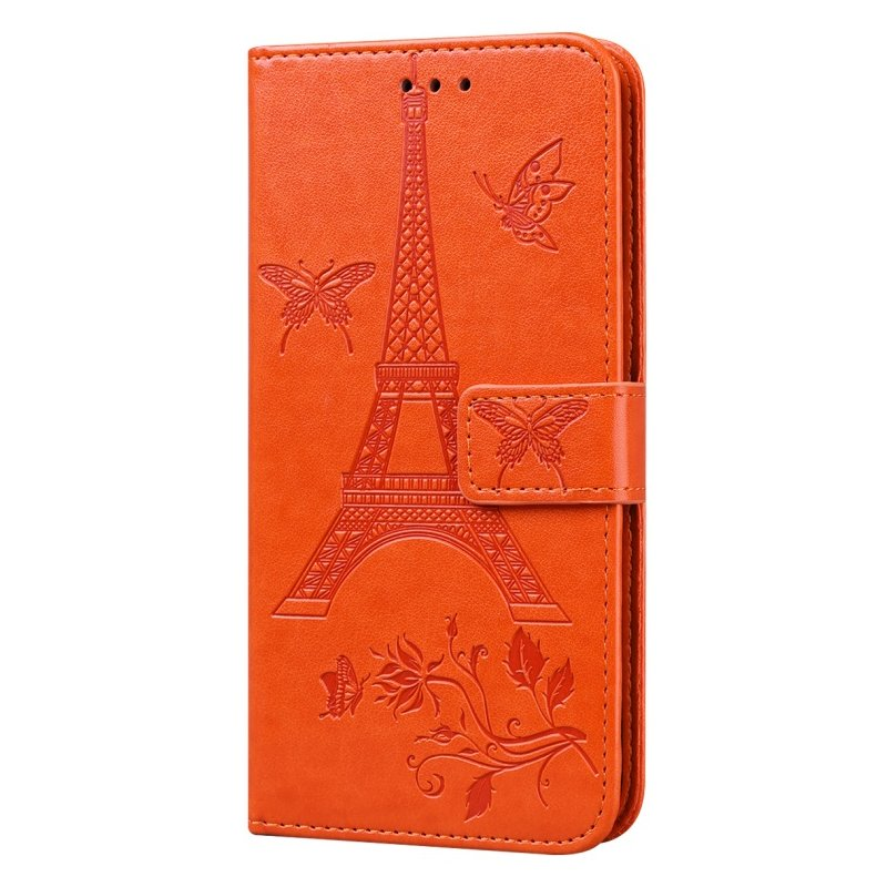 For iPhone12 iPhone12Pro 6.1 Inches Leather Case Flip Cover Card Slots Stand Bag Orange