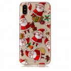 For iPhoneX Cute Cell Phone Case Christmas Style Gifts TPU Soft Phone Shell