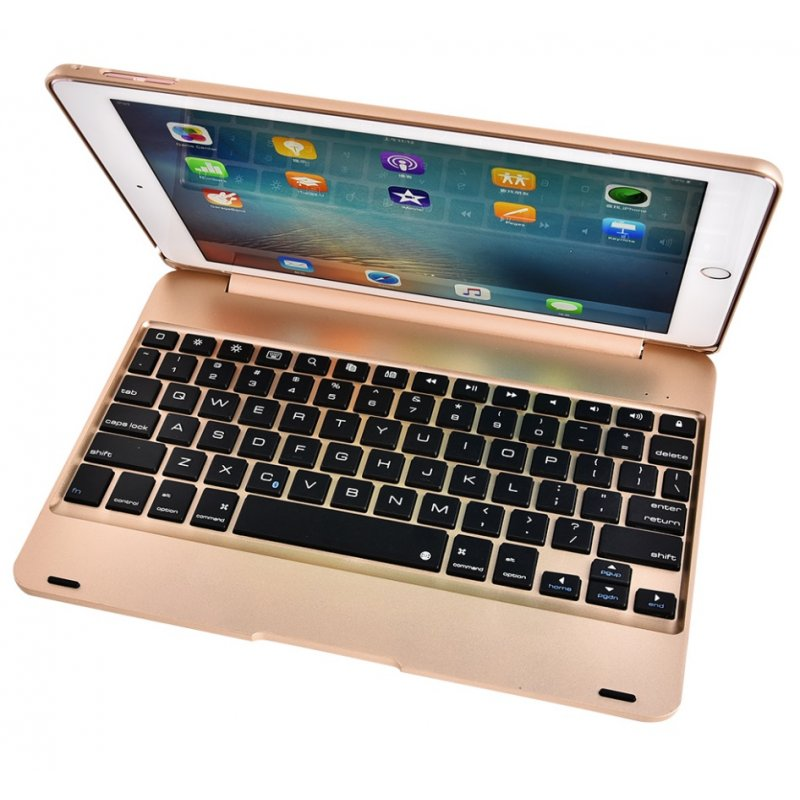 For ipad/ air1/2 pro 9.7 Tablet PC Slim Wireless Bluetooth Keyboard Gold
