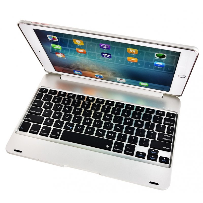 For ipad/ air1/2 pro 9.7 Tablet PC Slim Wireless Bluetooth Keyboard Silver grey