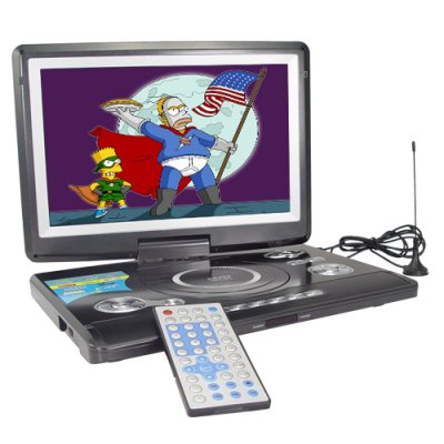 Portable DVD Media Player with 12 Inch Widescreen + AV Out