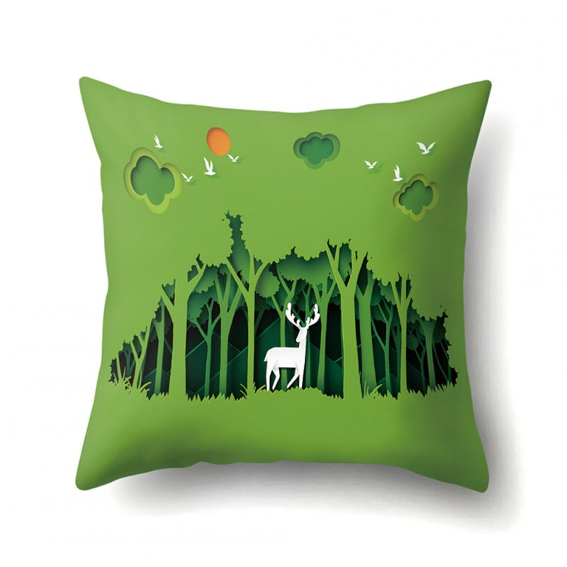 Forest Series Cushion Case with Pattern of Mountain and River Four Seasons 45*45cm CCA414(1)