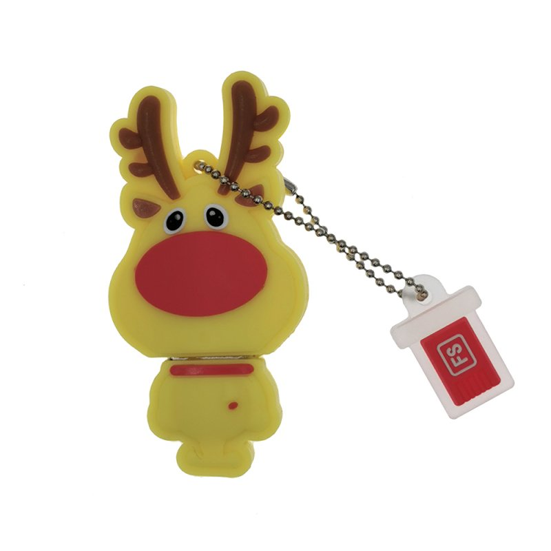 Cute Deer Waterproof U DISK - Brown 16GB